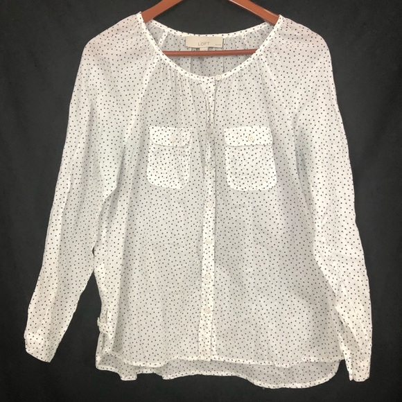 LOFT Tops - Ann Taylor LOFT   Polka Dot Button Down Shirt